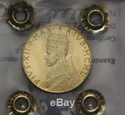 Nl Vaticano Papa Pio XII 100 Lire Oro 1950 Anno Santo Fdc Perizia Filisina M