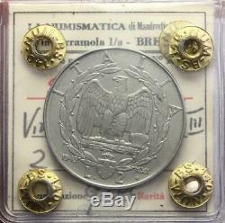 Nl Veiii 2 Lire Impero 1943 XXI Rara R Q. Fdc Perizia Nip Manfredini
