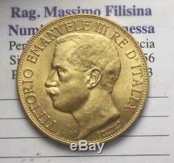 Nl Veiii 50 Lire Oro 1911 Cinquantenario Rara Q. Fdc Periziata Filisina M