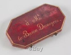 O5655 Rare Epreuve 100 francs essai or 1807 Vassalo Baron Desnoyers SPL FDC