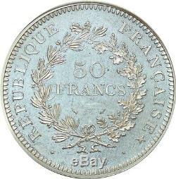 O7309 FINEST 50 Francs Piefort Hercule 1979 PCGS SP67 Argent Silver FDC