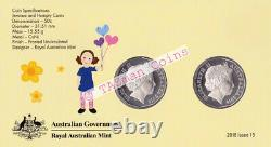 PNC Australia 2016 Play School 50 Years Jemima & Humpty 2 X RAM 50c Colour Coins