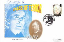 PSA/DNA slabbed CHRISTOPHER LEE signed TALES OF TERROR FDC autographed DRACULA