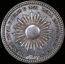 Peru 1849 / 1821 Silver Proclamation Medal FDC