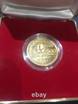 Pièce 500 Francs Or. Jeux Olympiques d'Albertville 1992
