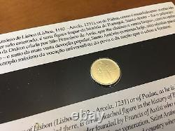 Portugal Gold Coin 1/4 Euro 2007 FDC 1.56 gr Santo Antonio