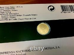 Portugal Gold Coin 1/4 Euro 2008 FDC 1.56 gr D. Dinis