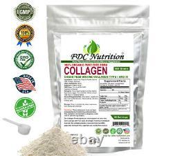 Premium Bovine Collagen Peptides Powder Hydrolyzed Anti-Aging Protein 5 LB