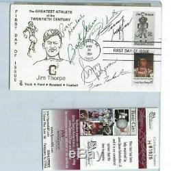 Pro Football HOF Autographed First Day Cover JSA Quarterbacks Starr, Unitas (6)