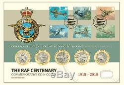 +×+RAF Centenary 2018 Ultimate UK £2 Coin Cover COA 96/500 FDC BUNC+×+