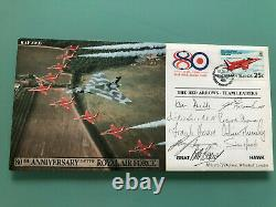 RAF Red Arrows signed Team Leader First Day Cover Ray Hanna John Blackwell RARE