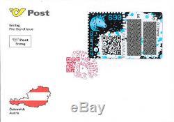 RAR SCHWARZ (BLOCK) Kryptomarke Crypto stamp FDC RARITÄT