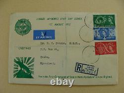 Rare 1957 World Jamboree FDC Registered Nyasaland Scouts