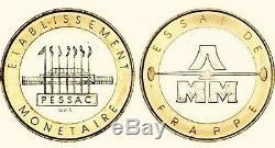 Rare 20 Francs Essai De Frappe Bi-metallique Fdc