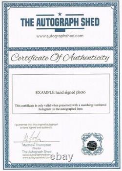 Rare Multi Signed Don Revie Statue Fdc Autograph Leeds United Utd
