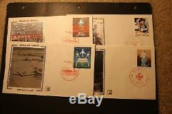 Rare collection of 33 beautiful China stamp silk Z fdc covers w T37 etc