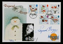 Raymond Briggs The Snowman Signed 2001 Christmas Autographed Editions FDC