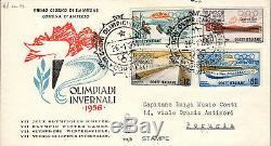 Repubblica Italiana 1956 FDC Venetia Club Olimpiadi Invernali