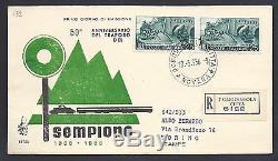 Repubblica Italiana 1956 FDC Venetia Club Traforo Sempione