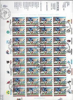 Repubblica Italiana 1989 FDC Venetia Club Minifoglio Inter Campione