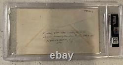Robert F. Kennedy RFK & Eunice Kennedy Shriver Autograph Signed FDC JFK PSA COA