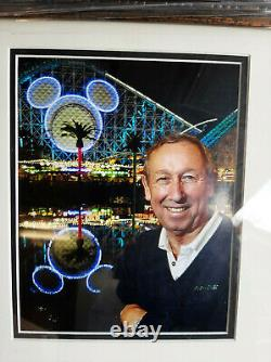 Roy E. Disney Autographed First Day Cover Signed Display 25 X 21 Inches