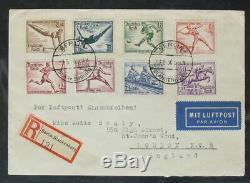 S2204 Deutsches Reich DR Berlin Olympiade 1936 Serie auf FDC KW 2000 Euro