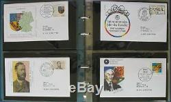 S599 Ersttagsbriefe BRD ca 1000 echt gelaufene FDC 1994 2009 m großformatigen