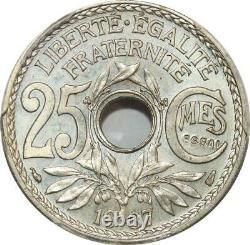 S7908 France 25 Centimes Lindauer Essai en Creux 1937 PCGS SP65 FDC