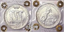 SAN MARINO 20 Lire 1933 Roma Q. Fdc #P501