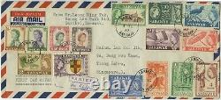 SARAWAK 1955 FDC QE II 1c to $5 SG 188-202 Sc 197-211 pictorial set COMPLETE