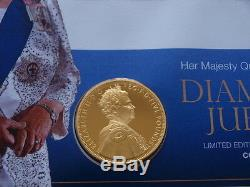 SCARCE 2012 UK Silver & Gold Proof £5 Crown Coin-Diamond Jubilee First Day Cover