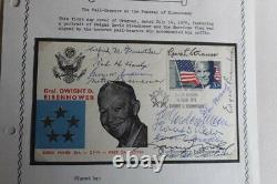SIGNED First Day Cover by Pall-Bearers at Eisenhowers Funeral, Gen Omar Bradley