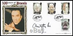 SIR CHRISTOPHER LEE Signed 1997 Tales of Terror 100 Years of Dracula Benham FDC