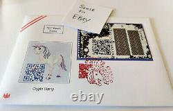 SPECIAL Unicorn First Day Cover Erste Crypto Stamp 1.0 FDC RARE ETH Erstagsbrief