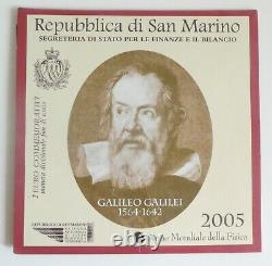 San Marino 2 Euro commemorativi 2005 Galileo Galilei FDC