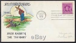 Scott 980 Joel Chandler Harris Mae Weigand Hand Painted First Day Cover Fdc