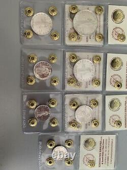 Serie CITTA' DEL VATICANO 1957 Prova 7 Monete 100 50 Argento Pio XII Fdc Rara 4