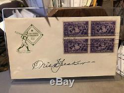 Signed Tris Speaker Baseball HOF FDC Envelope 1939 Cooperstown Centennial