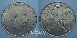 Spagna 100 Pesetas 1966 (69) 9 Diritto Francisco Franco Fdc Rr