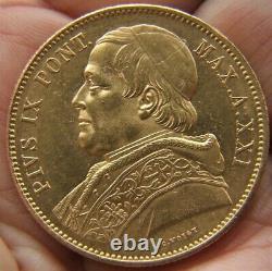 Stato Pontificio Pio IX Lire 100 1866 Raro Fdc (id 119176)