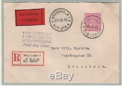 Sweden Very Rare Official First Day Cover 1933