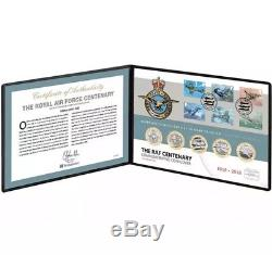 The RAF Centenary 5 X £2 Two Pound Stamp Coin Cover Set COA 141 Of 500 FDC BUNC