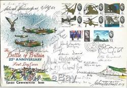 Twenty Three Battle of Britain pilots signed 1965 Battle of Britain FDC Y152