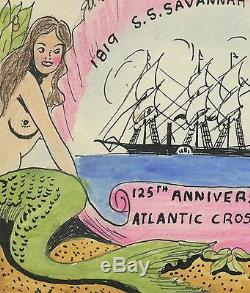 US, #923 HANDPAINTED NUDE WEIGAND First Day Cover CACHET ATLANTIC CROSSING