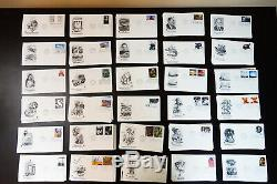 US New Lot Of 220 Unaddressed First Day Stamp Covers