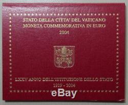 VATICANO Giovanni Paolo II 2 EURO 2004 FDC Commemorativo 75 Istituzione Stato