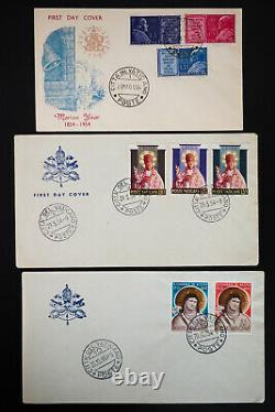 Vatican City 45x Stamped Early First Day Covers FDC