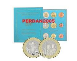 Vaticano 2019 Divisionale Fdc 9 Monete Con 5 Euro Bimetallico Vatikan Kms Bu Set
