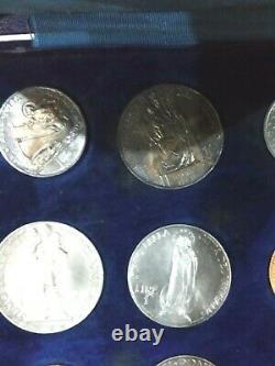 Vaticano serie commemorativa pio XI anno 1929 FDC rara con le 100 lire oro